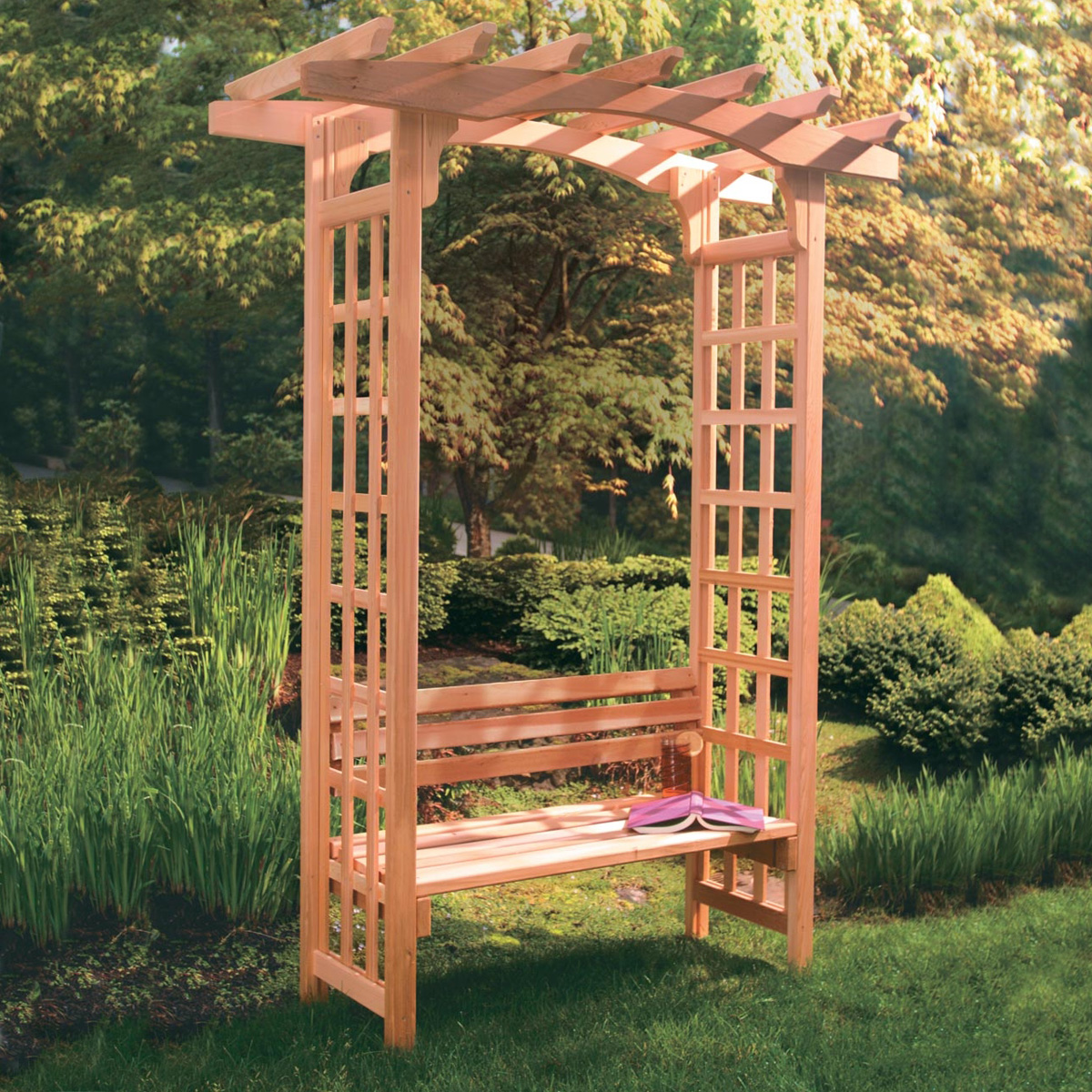 Garden Bench Arbor Container Gardening Ideas
