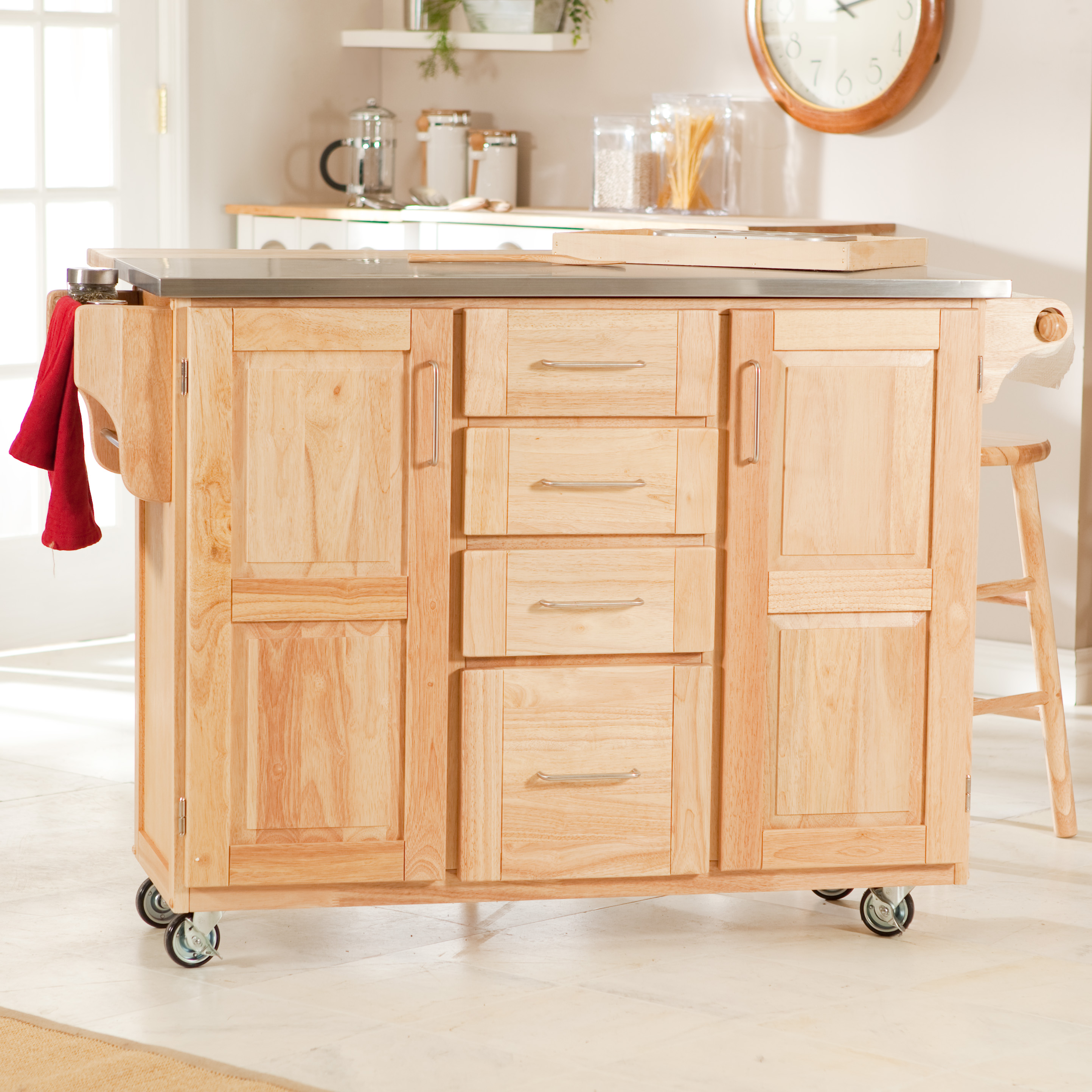 Origami Folding Kitchen Island Cart with Casters - Bronze ... | 2887x2887