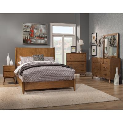 Alpine Furniture Flynn Collection Panel Bed Set