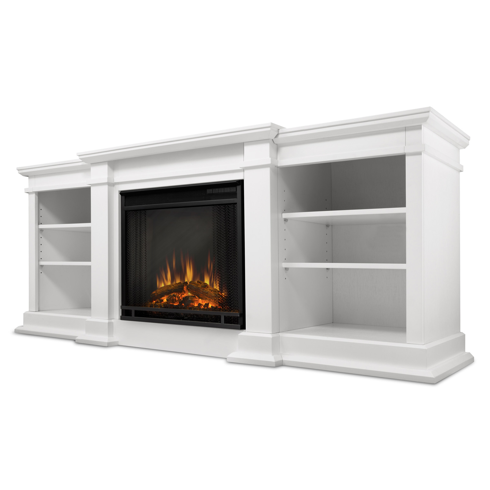fireplace tv white stand entertainment center itm up ebay electric tvs wood for whitewash to