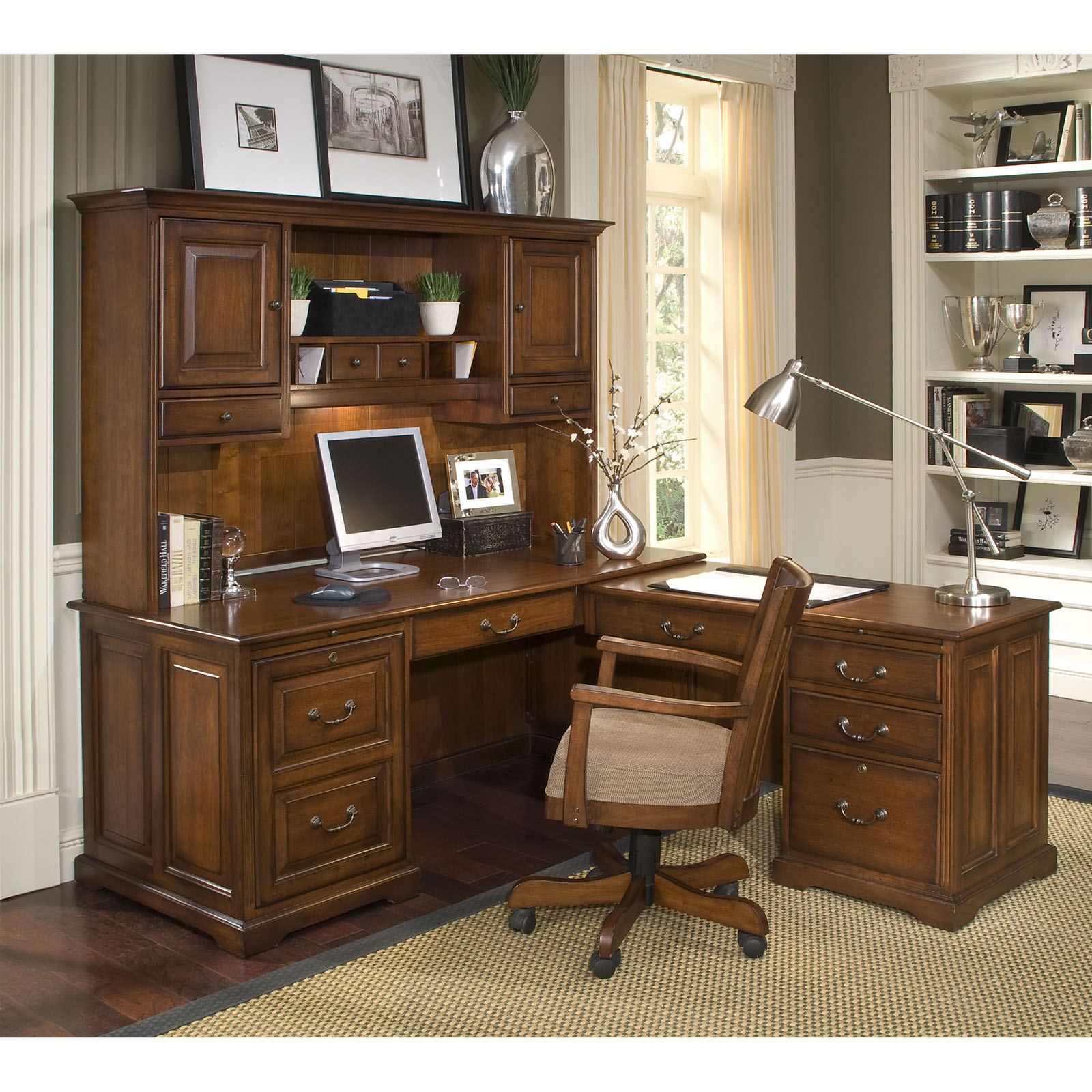 and shaped atzine l hutch with computer desk com stunning armoire drawers application for
