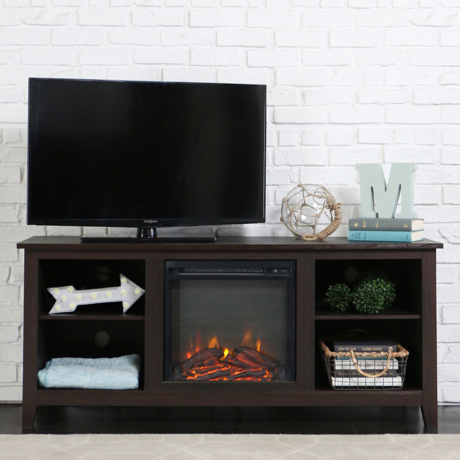 fireplace stand tv cheap wayfair furniture reviews media homestar pdx electric kerry