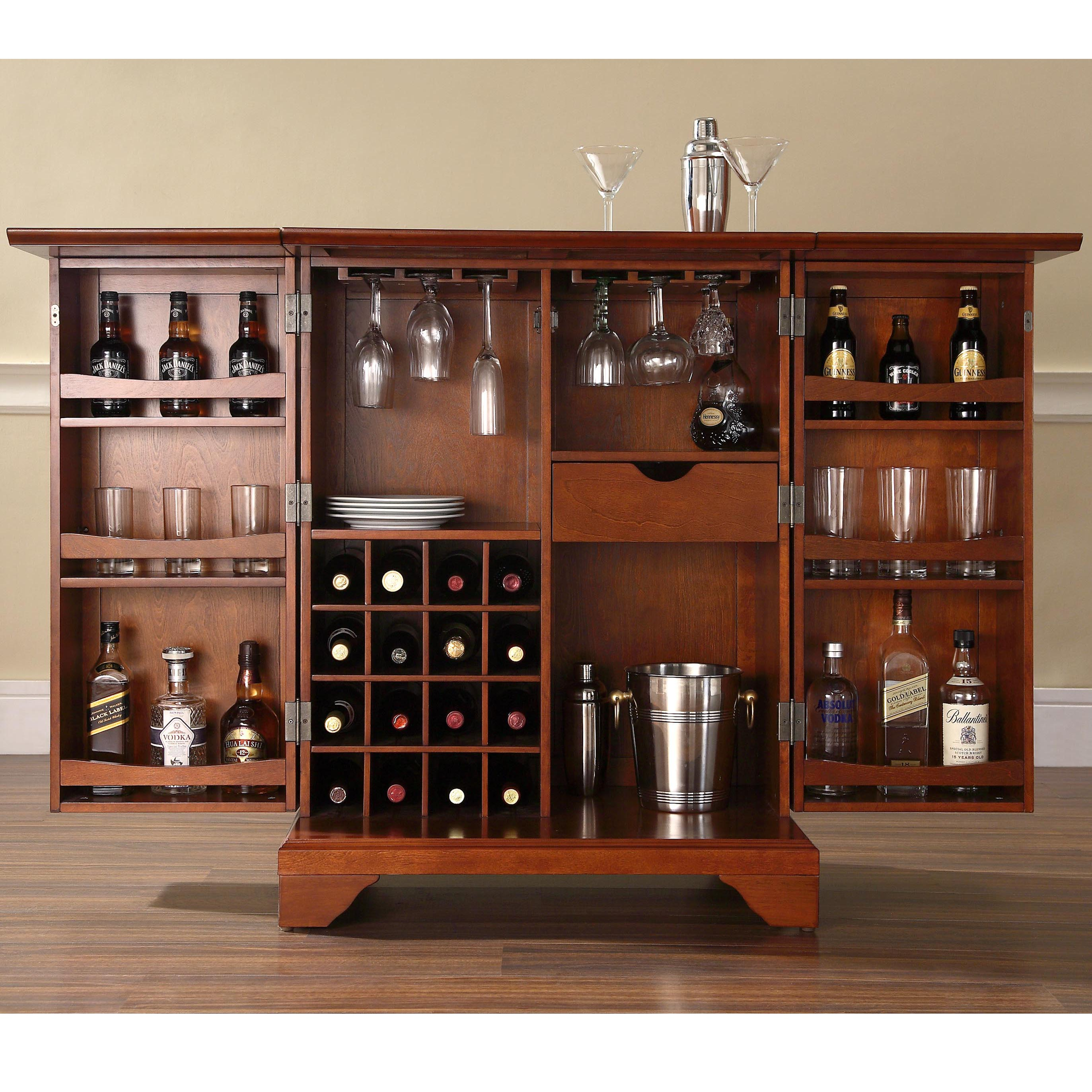shipping garden blvd harper mirrored cabinet out fold product overstock martindell home free bar wine today