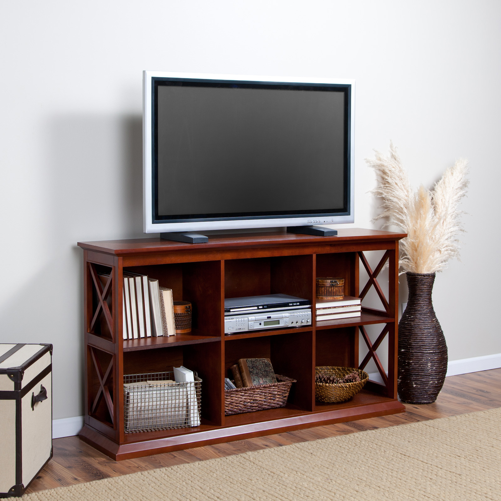 inch space signature design designed tv with entertain becker and bookcases pin furniture stand by to com great ashley delsolfurniture carlyle door world bookcase at large storage