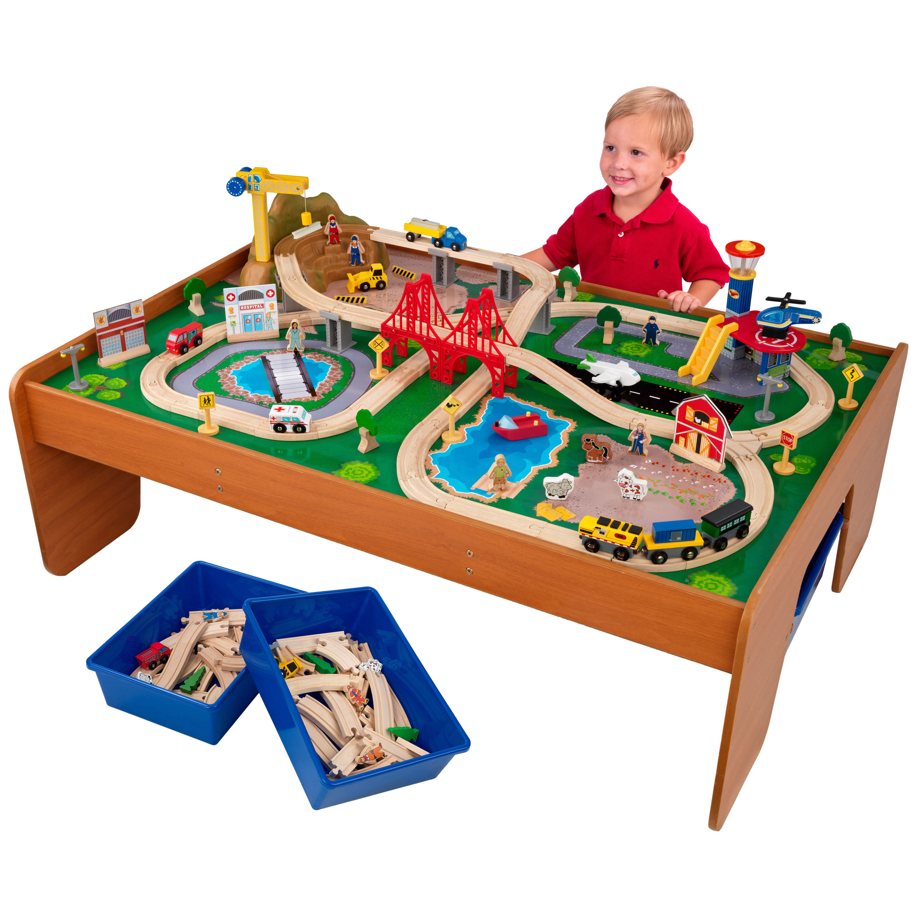 sc 1 st  Hayneedle & KidKraft Ride Around Town Train Table and Train Set - 17836 | Hayneedle