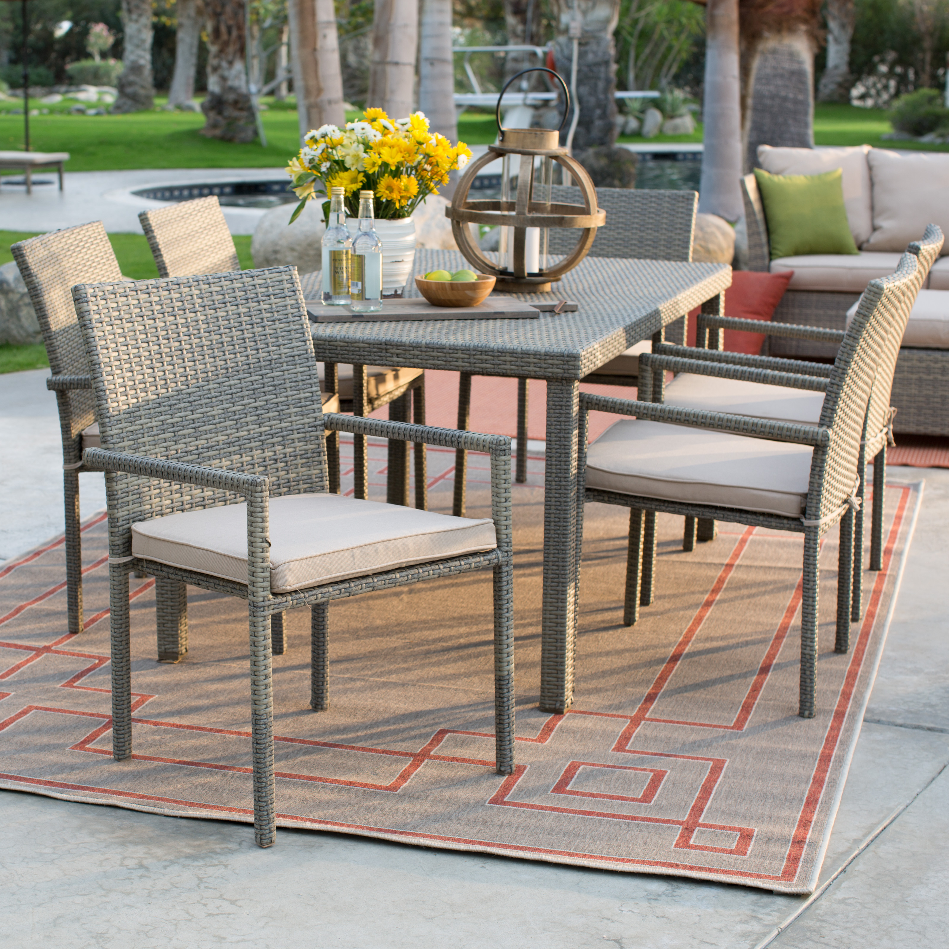 patio hampton shell p statesville sets dining piece aluminum set outdoor bay