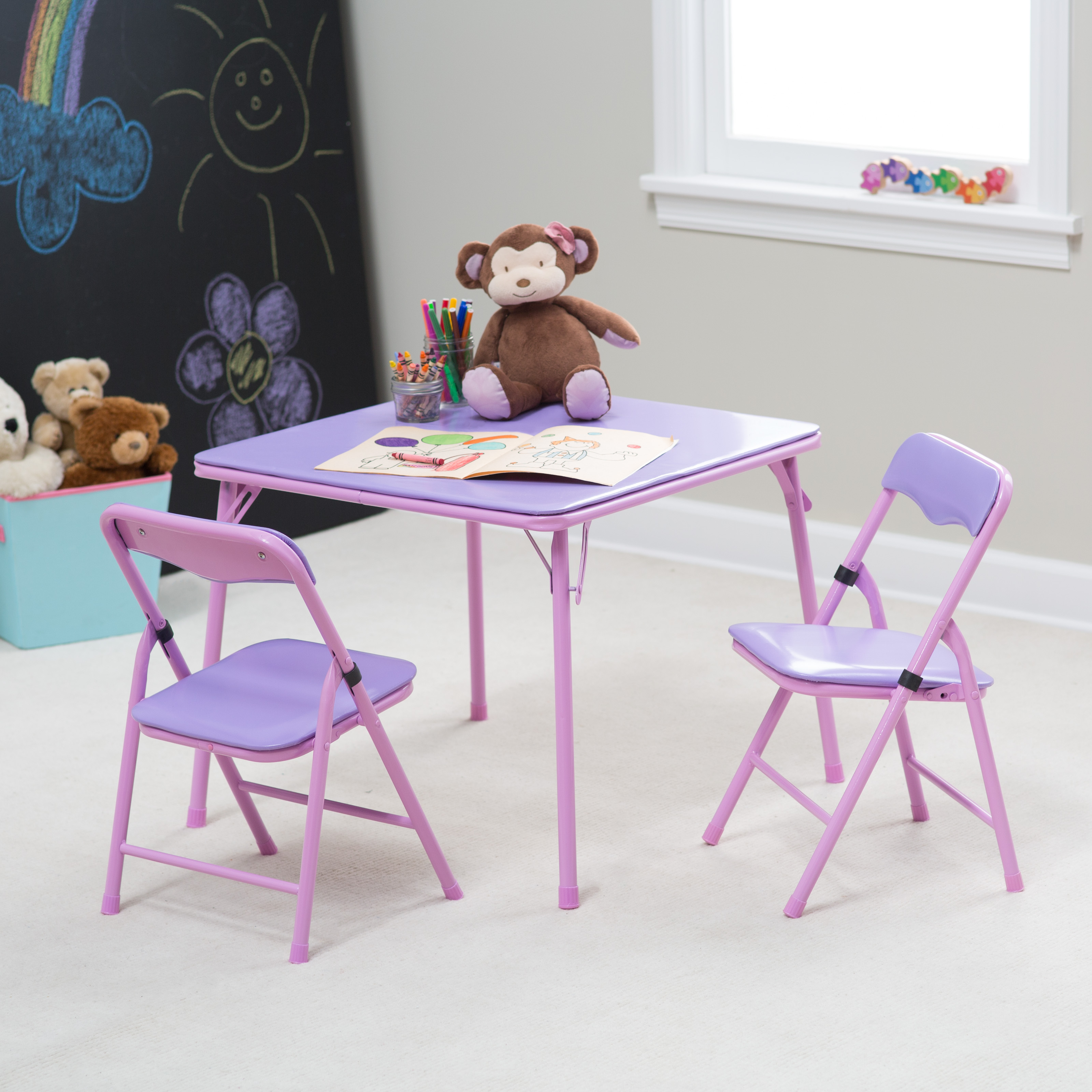 Showtime Childrens Folding Table and Chair Set | Hayneedle