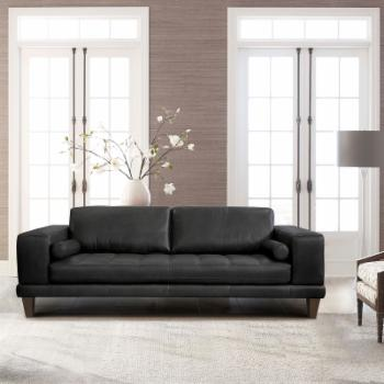 Armen Living Wynne Genuine Leather Sofa