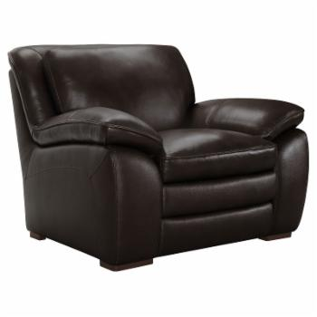 Armen Living Zanna Genuine Leather Arm Chair