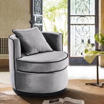 Armen Living Truly Contemporary Swivel Chair