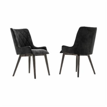 Armen Living Alana Upholstered Dining Arm Chair - Set of 2