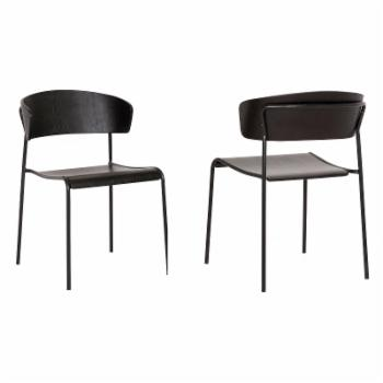 Armen Living Zeph Contemporary Dining Chair - Set of 2