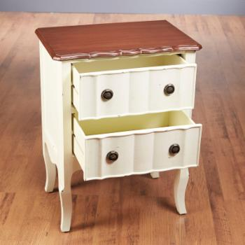 AA Importing Anna 2-Drawer Nightstand