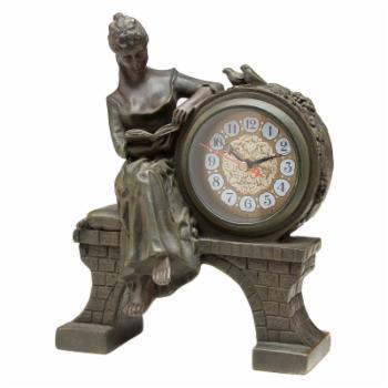 AA Importing Lady on Bridge Desktop Clock