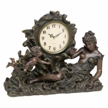 AA Importing Lady and Cherub in Wave Desktop Clock