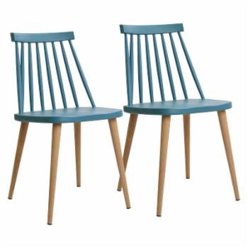 Abble Slat Back Dining Chairs - Set of 2