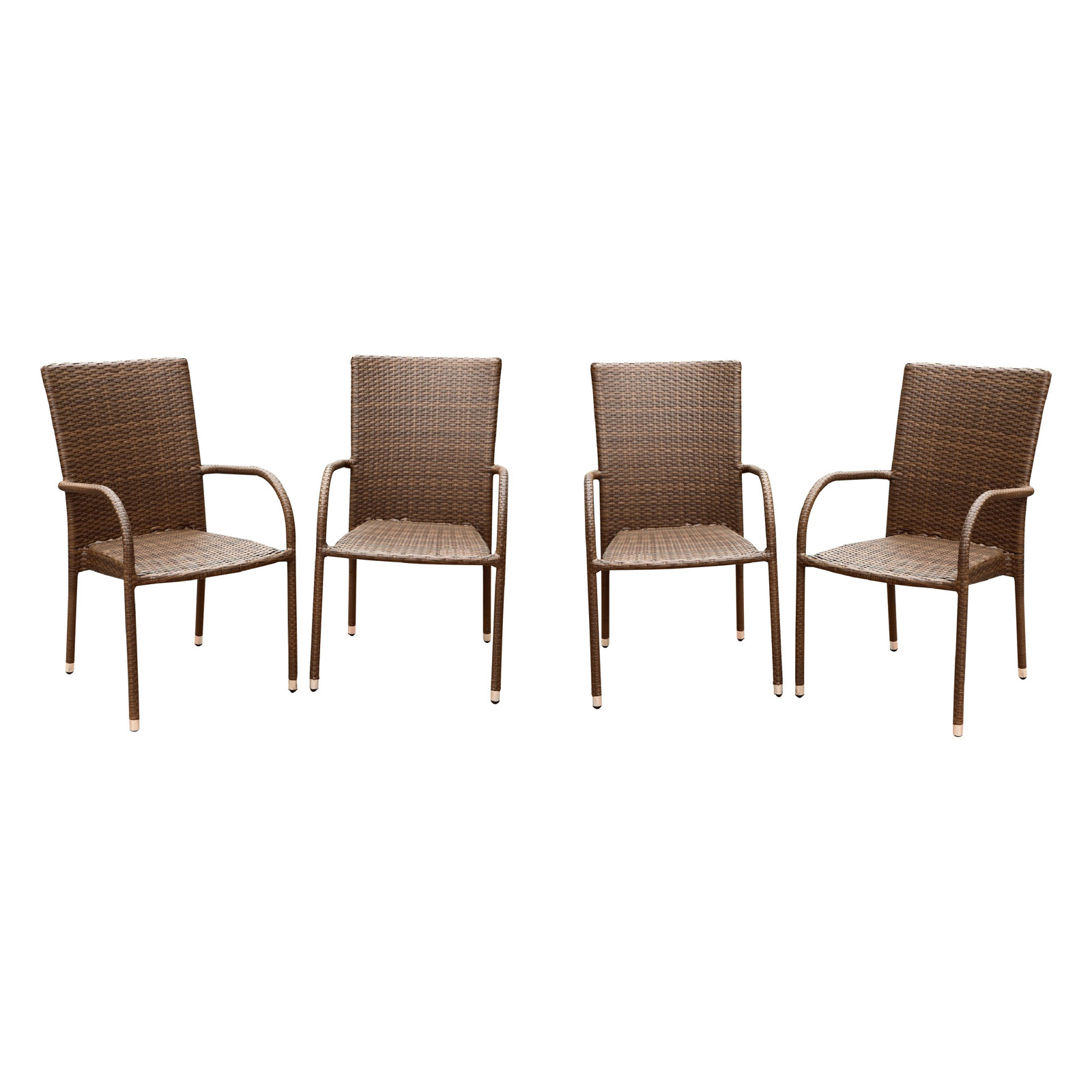 Abbyson Palermo Dining Arm Chair Set of 4
