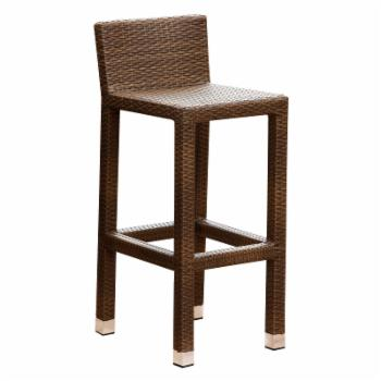 Abbyson Molly Outdoor Brown Wicker Patio Bar Stool