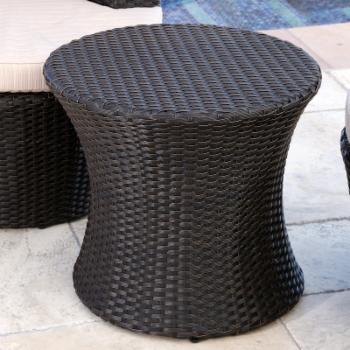 Abbyson Courtney Outdoor Wicker Patio End Table