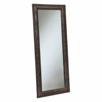 Abbyson Braelin Leather Floor Mirror - 28W x 70H in.
