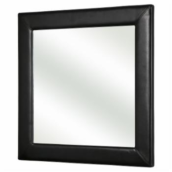 Abbyson Claire Leather Wall Mirror - 36W x 36H in.