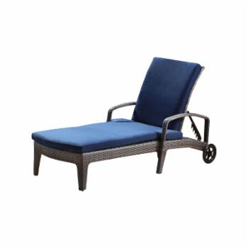 Abbyson Calloway Wicker Patio Chaise Lounge with Cushion
