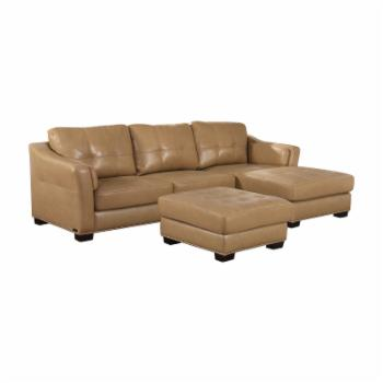 Abbyson Aspen 2 Piece Leather Sectional