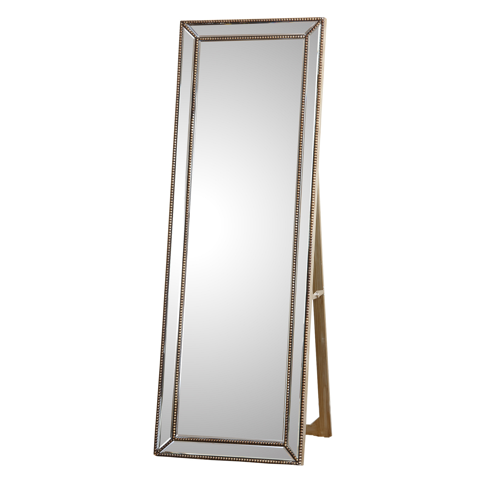 Cosmic Tarnished Gold Rectangle Cheval Floor Mirror | Hayneedle