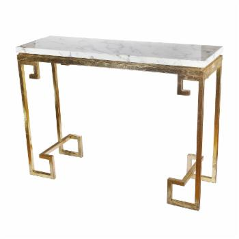 A & B Home Phoenician Nights Marble Console