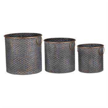 A & B Home Seneca Metal Planters - Set of 3