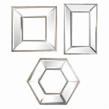 A & B Home Kirby Wall Mirrors - Set of 3