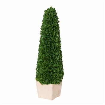 A & B Home Faux Boxwood Potted Artificial Topiary Tree