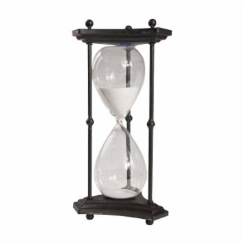 A & B Home 60 Minute Hourglass with Iron Stand