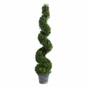 A & B Home Spiral Boxwood Topiary