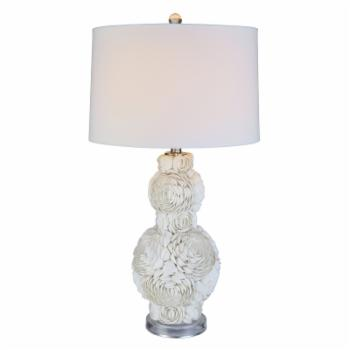 Anthony California P9800/2 Shell Flower Table Lamp - Set of 2