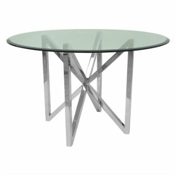 Allan Copley Designs Calista Glass Top Dining Table