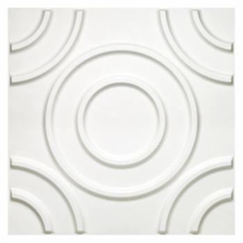 Achim Donny Osmond Circles 19.6 x 19.6 in. Self-Adhesive Wall Tile - Set of 10