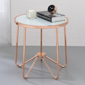 ACME Alivia Frosted Glass End Table