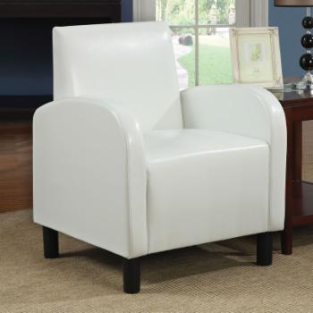 Acme Furniture Maxie White PU Accent Chair