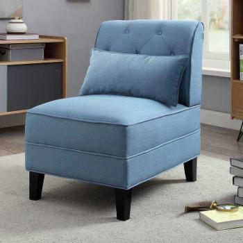 Acme Furniture Susanna Upholstered Side Chair and Pillow