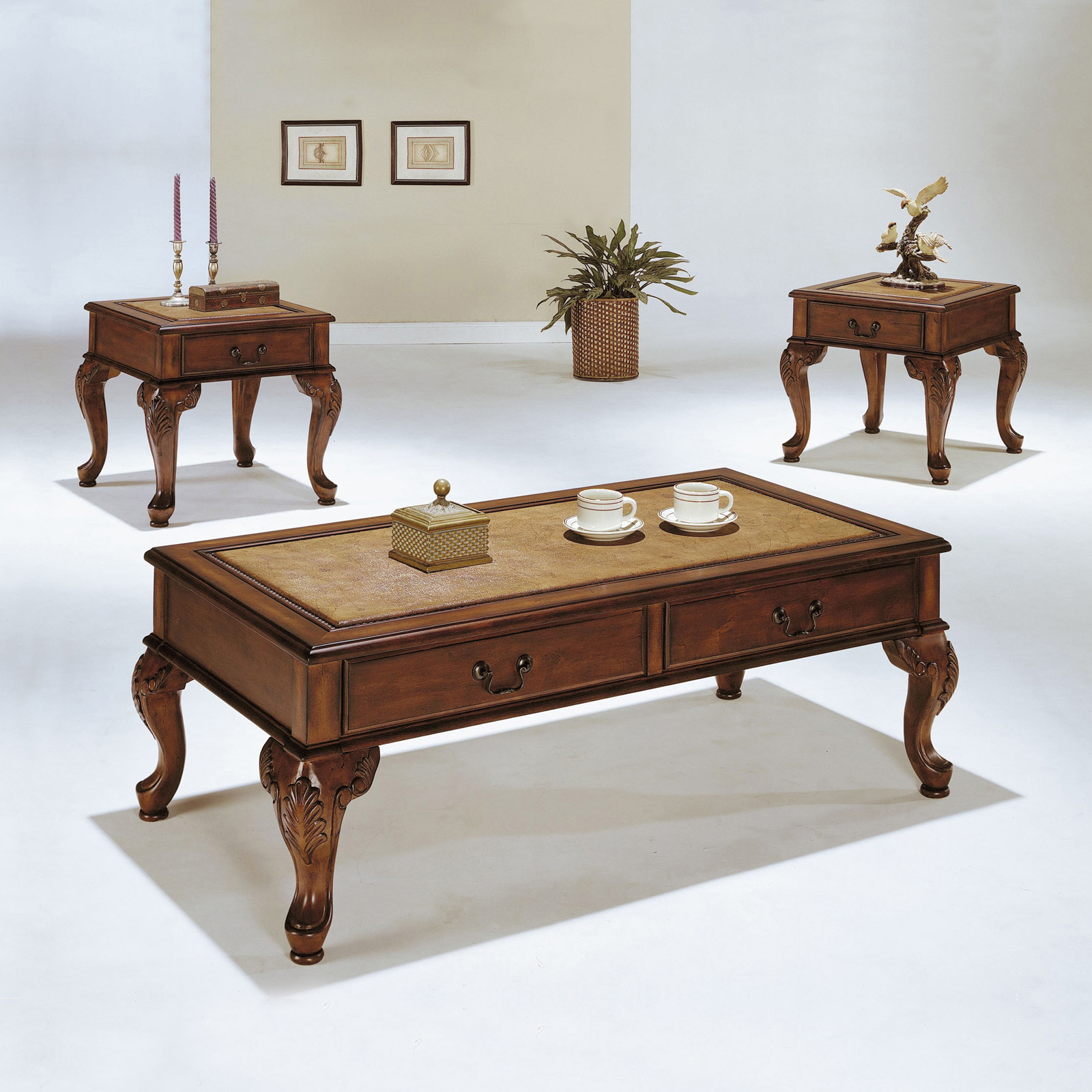 Acme Furniture Trudeau Coffee And End Table Set   3 Piece Set