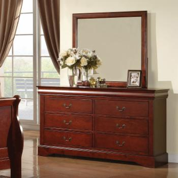 Acme Furniture Louis Philippe III 6 Drawer Dresser with Optional Mirror