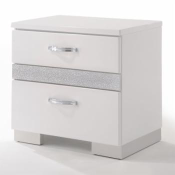 Acme Furniture Naima II Nightstand in White