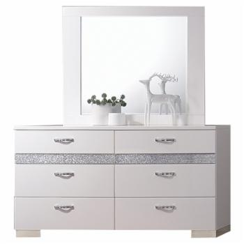 Acme Furniture Naima II 6 Drawer Dresser with Optional Mirror