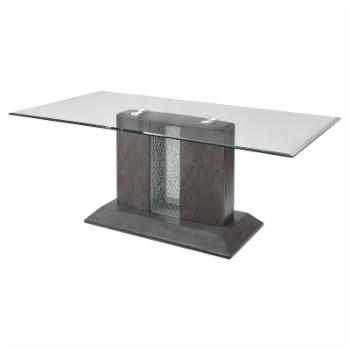 Acme Furniture Bernice Glass Top Dining Table