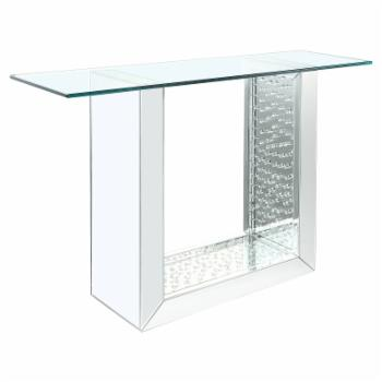 Acme Furniture Nysa Mirrored Console Table