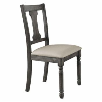 Acme Furniture Wallace Weathered Gray Dining Side Chairs - Set of 2