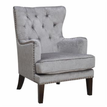 Christies Home Living Isabella Tufted Nail Head Trim Classic Wingback Accent Arm Chair