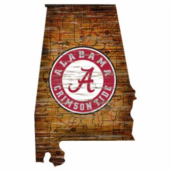 Fan Creations NCAA Distressed State Sign With Logo