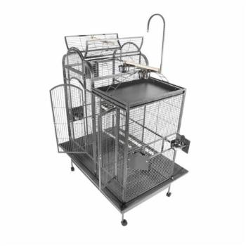 A and E Cage Co. Split Level House Bird Cage with Divider PC4226D
